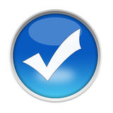 Web Button - Check Mark Royalty Free Stock Images