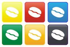 Web button - coffee bean Stock Photo