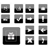 Web button collection royalty free stock images