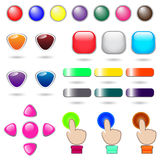 Web button collection set for website Stock Image