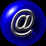 Web Button @ Commercial. Blue Button Email - Web Button - Internet Design Stock Image