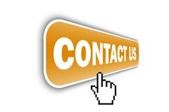 Web button - contact us Stock Photo
