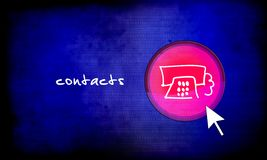 Web button - contacts Stock Image