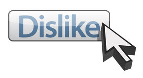 Web button Dislike Stock Images