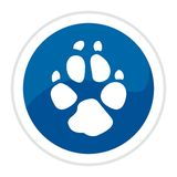 Web button - dog track Stock Photography