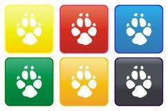 Web button - dog track Stock Photos