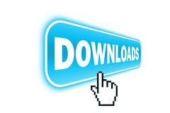 Web button - downloads Stock Photography