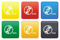 Web button - DVD Royalty Free Stock Photos