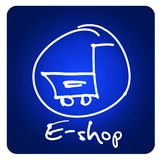 Web button - e-shop Royalty Free Stock Images