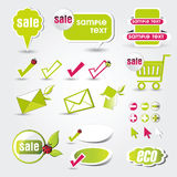 Web button eco Stock Photo
