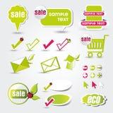 Web button eco. Art Illustration web button color Stock Photo