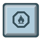 Web button fire Royalty Free Stock Image