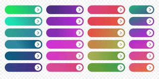 Web button flat design template next arrow icon color gradient vector Royalty Free Stock Photo