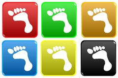 Web button - footstep Stock Images
