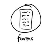 Web button - forms Stock Photography
