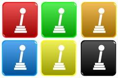 Web button - gear shift Stock Image