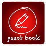 Web button - guest book Royalty Free Stock Photos