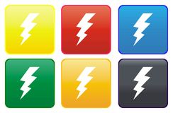 Web button - high voltage Royalty Free Stock Images