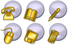 Web button icon (01). Set of icons or buttons for web or illustrations Stock Images