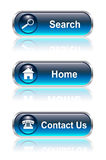 Web button, icon set. Home search contact,  illustration Royalty Free Stock Image