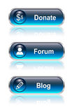 Web button, icon set Royalty Free Stock Photos