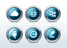 Web button icon set  illustration. On background Stock Images
