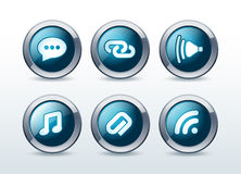 Web button icon set  illustration Stock Image