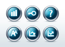Web button icon set  illustration Royalty Free Stock Image