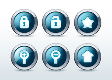 Web button icons set  illustration Royalty Free Stock Image