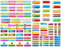 Web Button. Illustration of collection of colorful web button vector illustration