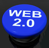 Web 2.0 Button Means Dynamic User WWW Stock Photo