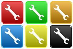Web button - mechanic Royalty Free Stock Images
