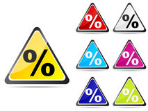 Web button with percent on it Royalty Free Stock Photography