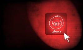 Web button - phone Stock Photo