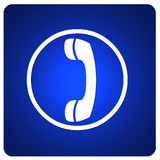 Web button with phone symbol Royalty Free Stock Photography