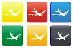 Web button - plane Stock Photos