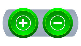 Web button plus and minus. Vector illustration Royalty Free Illustration