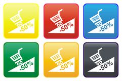 Web button - promotion Stock Photos