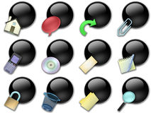 Web button rounded black Royalty Free Stock Image