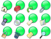 Web button rounded green stock images
