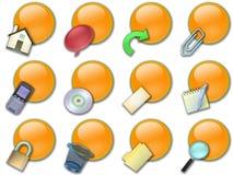 Web button rounded orange Stock Photos