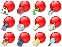 Web button rounded red royalty free stock photos