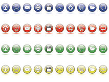 Web button set. Set of 10 sphere web buttons in multi colors Royalty Free Illustration