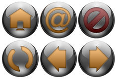 Web button set. Can be used for websites, interfaces of internet browsers and mail clients Stock Photo