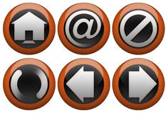 Web button set. Can be used for websites, interfaces of internet browsers and mail clients Royalty Free Stock Image