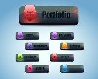 Web Button Set. Web buttons set for web Stock Photography