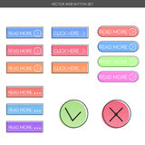 Web button set. Stock Photos