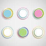 Web button set. Set of colorful 3d buttons. Vector illustration Stock Photography