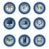 Web Button Set. 3D web button set. Vector graphic. Additional format: CS3 .ai Royalty Free Stock Images