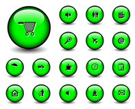 Web button. Set of Glossy web button icons on white Stock Images